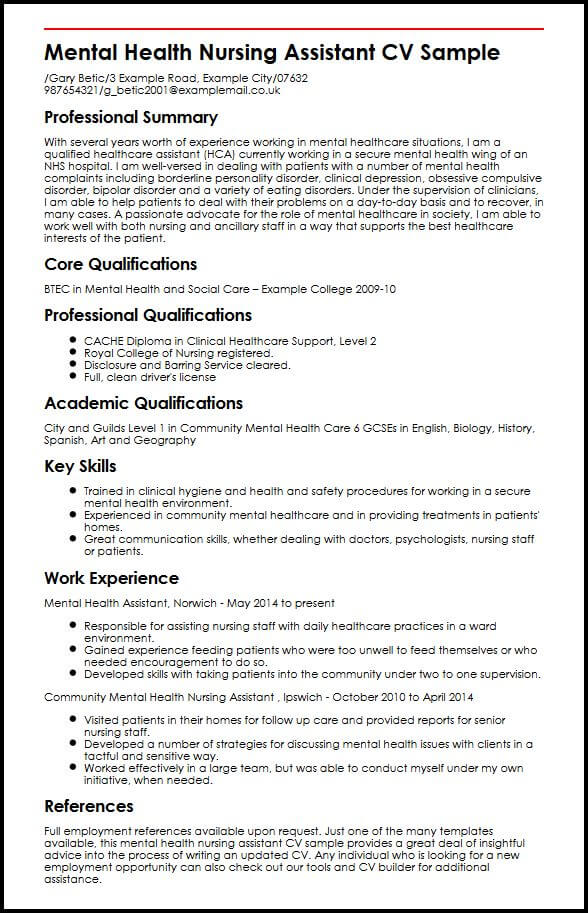 contoh resume medical assistant