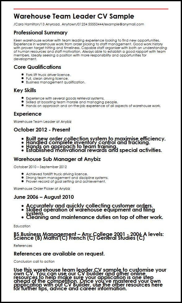 business manager cv examples uk