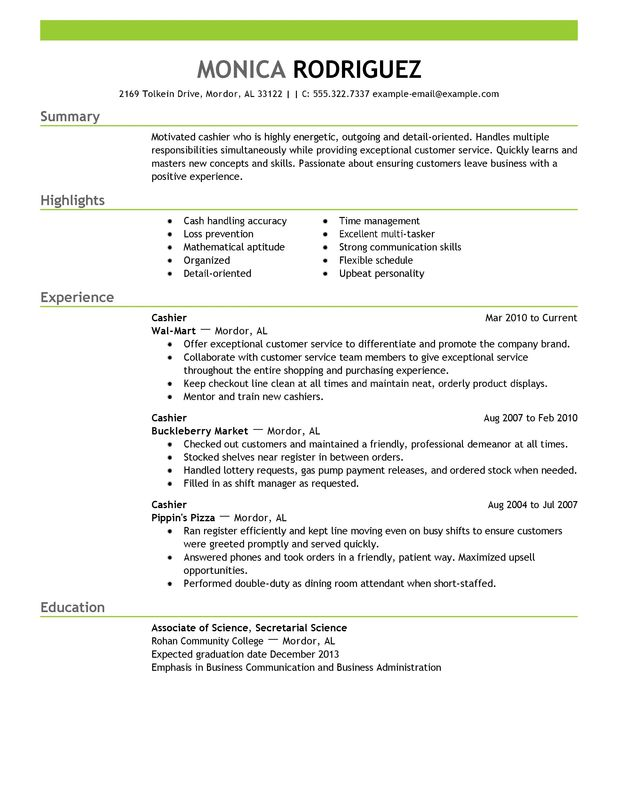 Professional Cashier Templates to Showcase Your Talent MyPerfectResume
