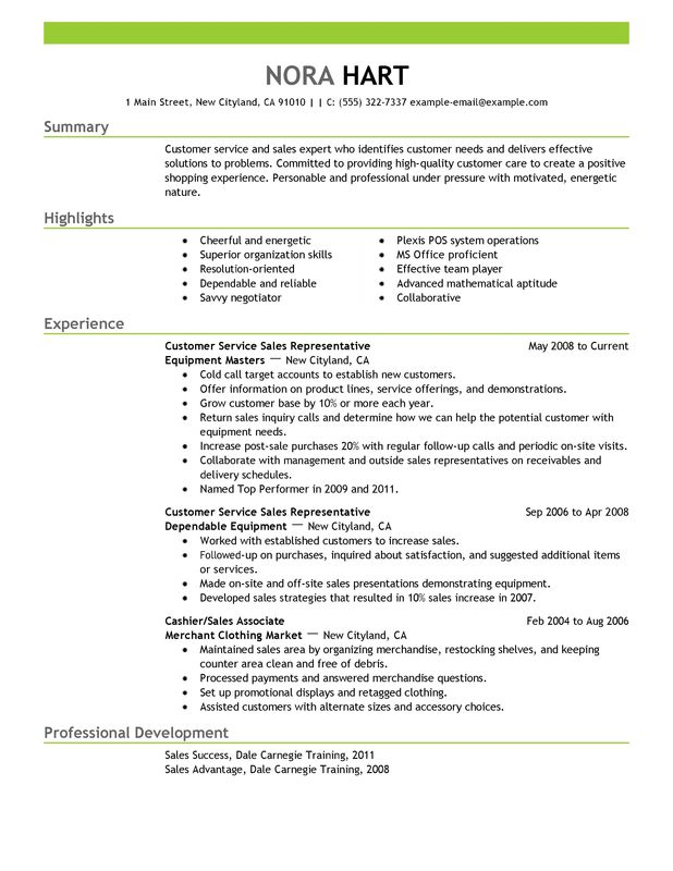 Unforgettable Customer Service Representatives Resume Examples to - sample of a customer service resume