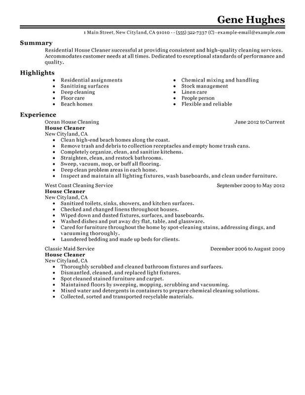 model resume cleaner