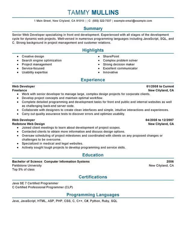 sample resume for java developer 5 year experience