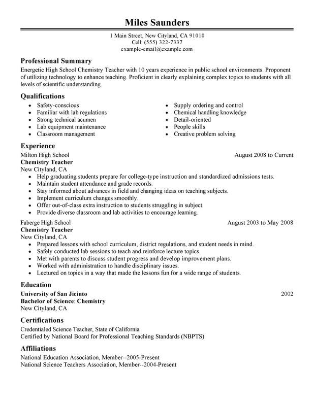 Impactful Professional Education Resume Examples  Resources