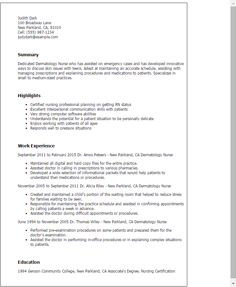 resume skills for healthcare