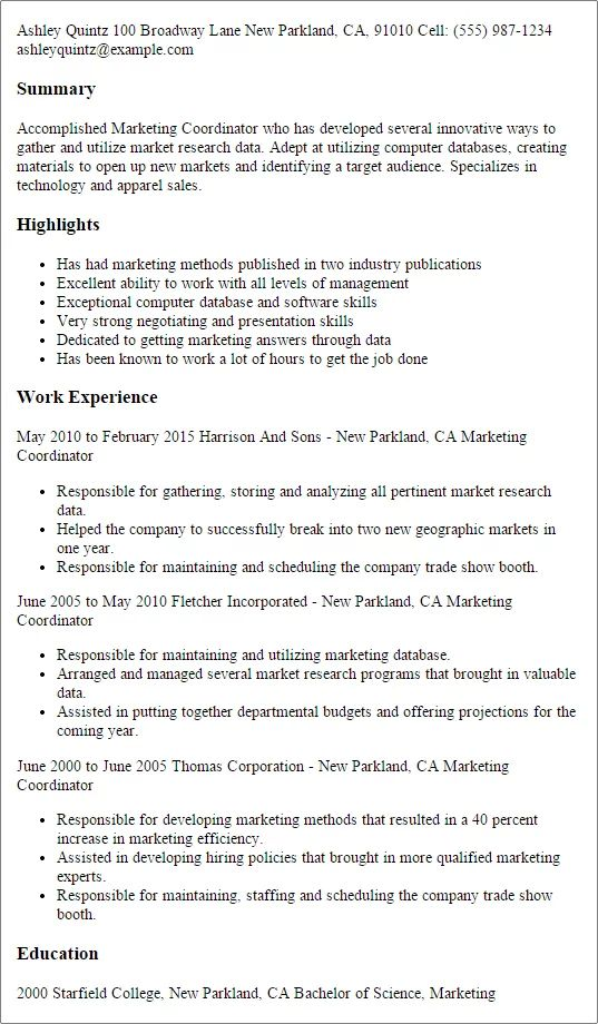 resume examples research
