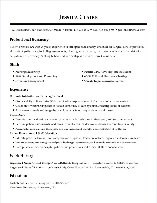 sample resume for seasonal job