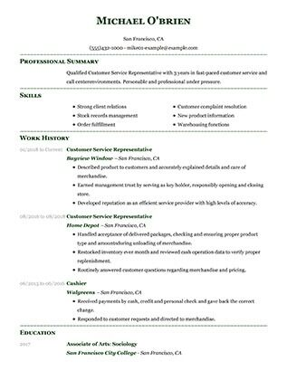 Impactful Professional Customer Service Resume Examples  Resources