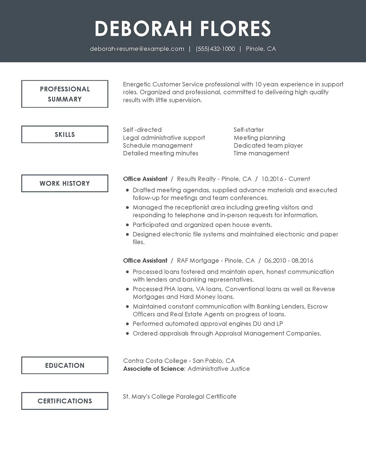 computer operator and programming assistant resume sample