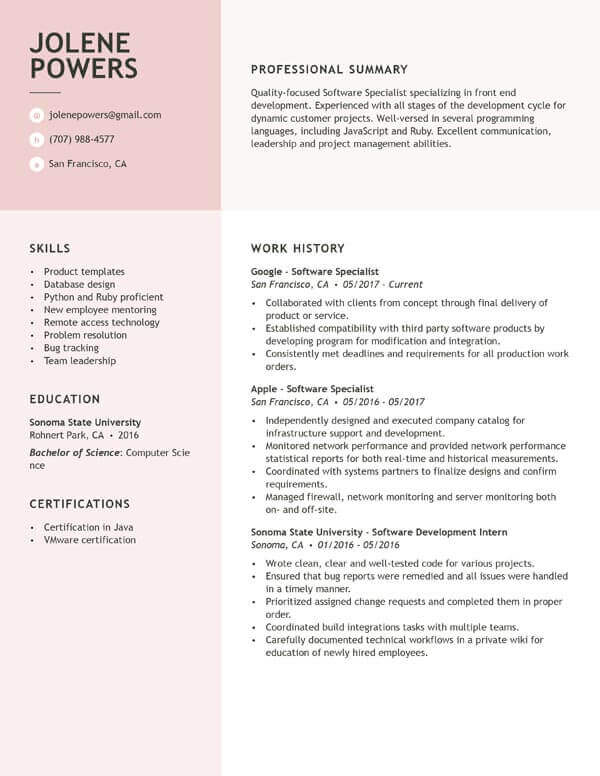 Get the Job With a Simple Resume Guide My Perfect Resume
