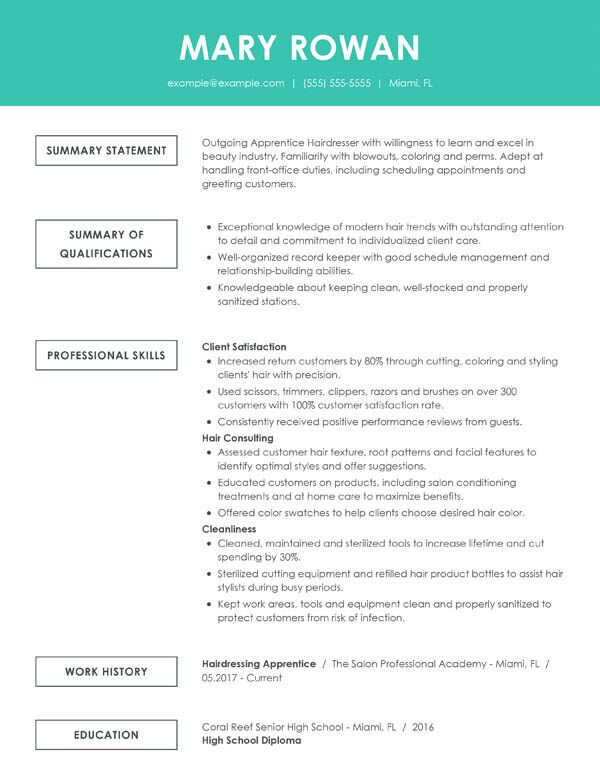 resume summary examples changing careers