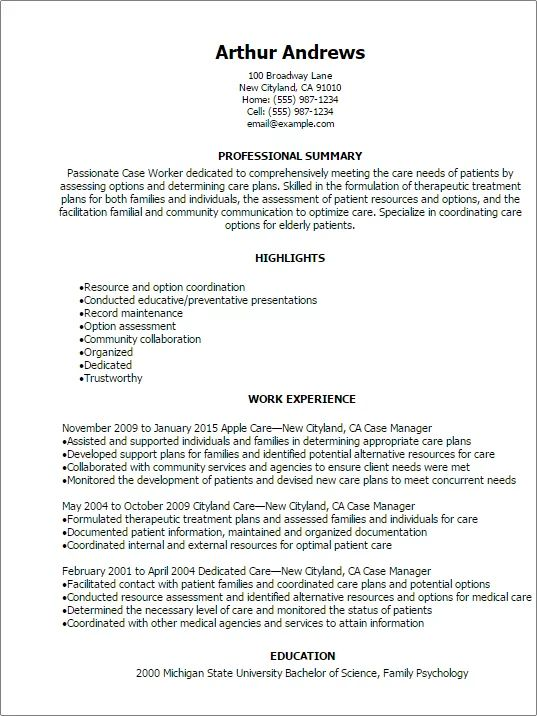 community service worker resume templates