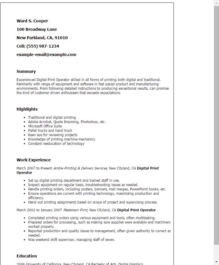 resume templates for adobe acrobat