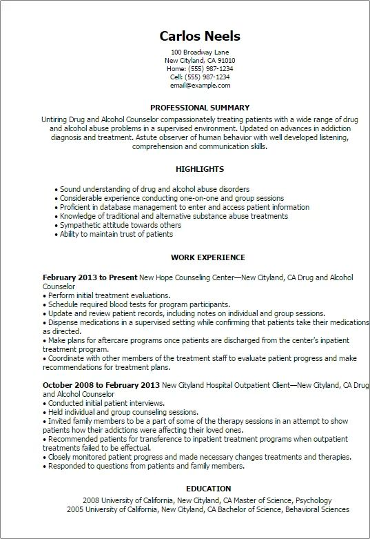 career change counselor resume sample
