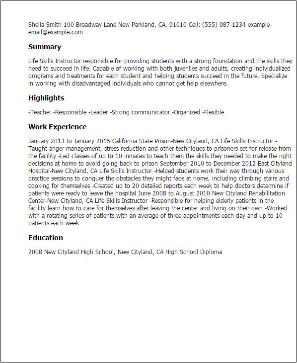 my future resume builder