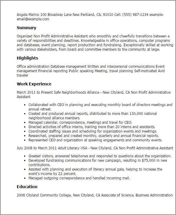 nonprofit resume tips