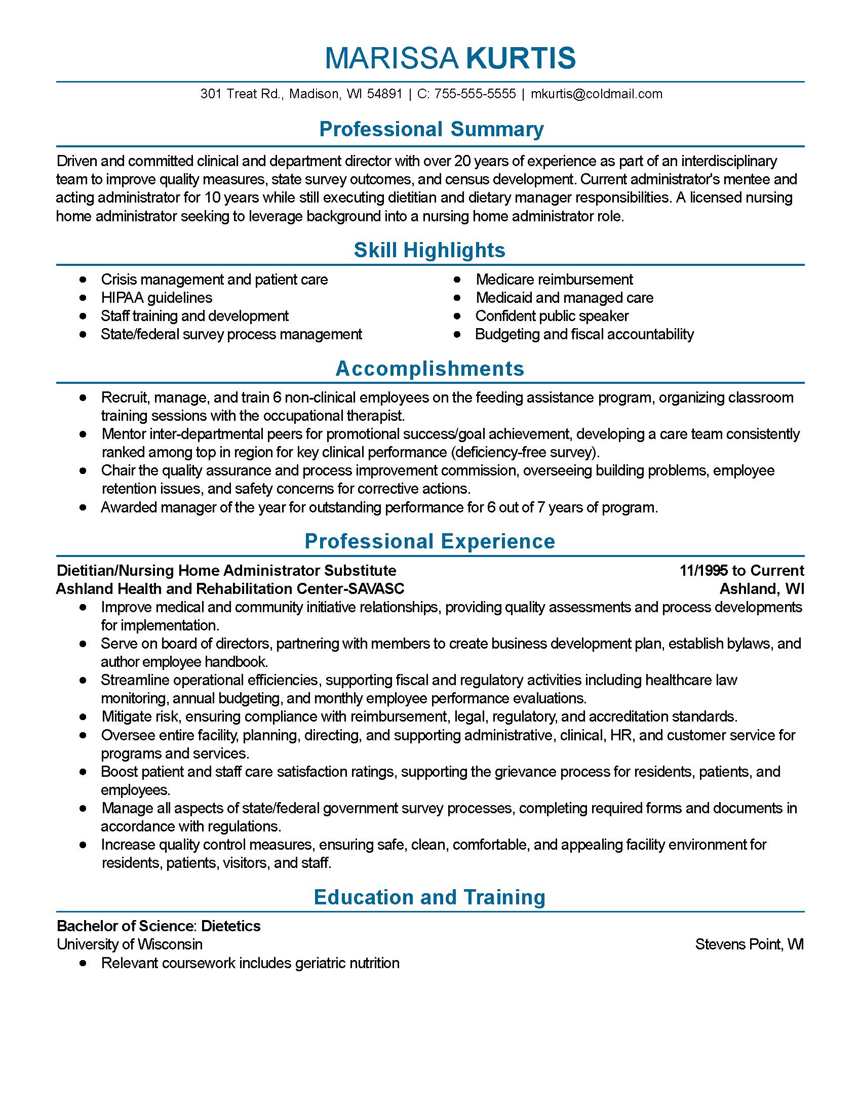 sample public speaking resume