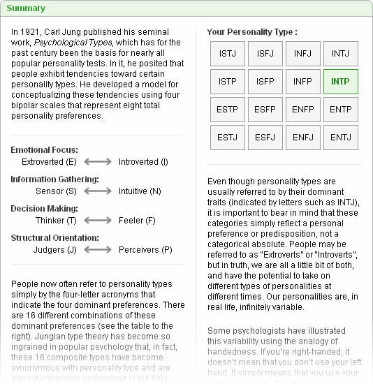 MyPlan  Assessment  Sample Personality Report