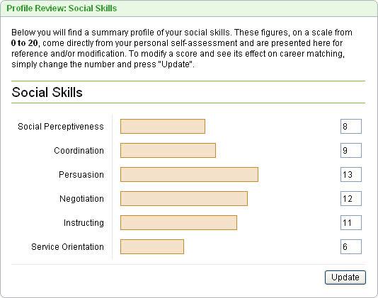 MyPlan  Assessment  Sample Skills Report