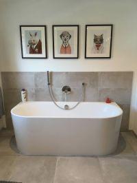 Badezimmer Design-Ideen - Kundenbeispiel gerahmtes Poster ...
