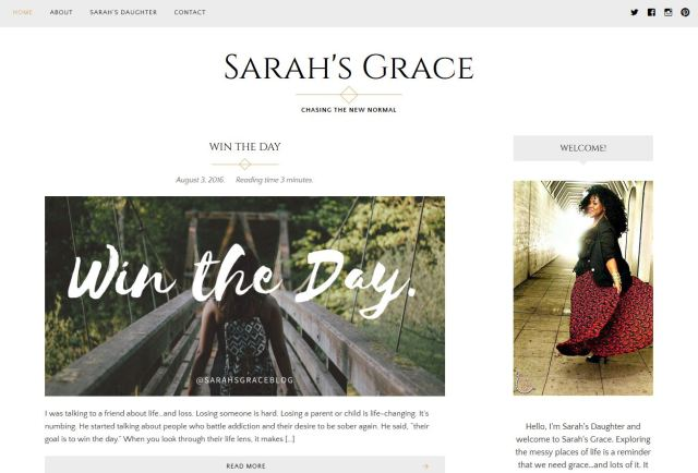 Sarah's Grace: Chasing the New Normal