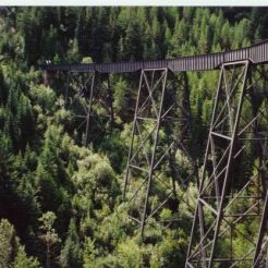 Trestle #6. Trestle #6 before decking and guard rails were added by the Capri Rotary club.