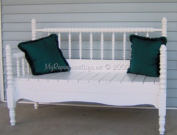 Headboard Bench Full Size Spindle Or Spool Bed My