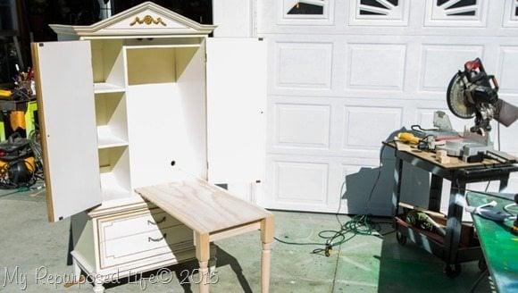 Kids Art Desk Repurposed Armoire My Repurposed Lifer