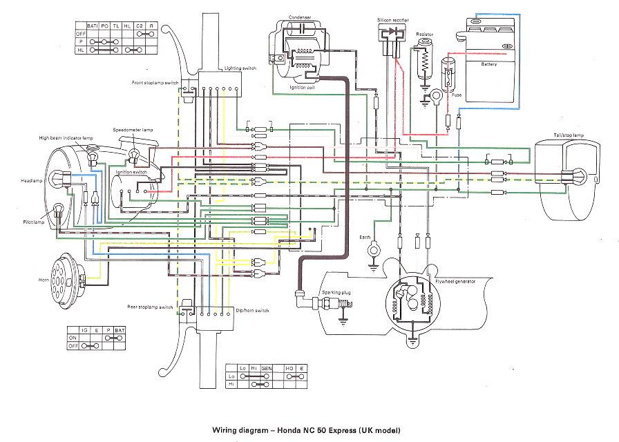 1978 honda express wiring diagrams
