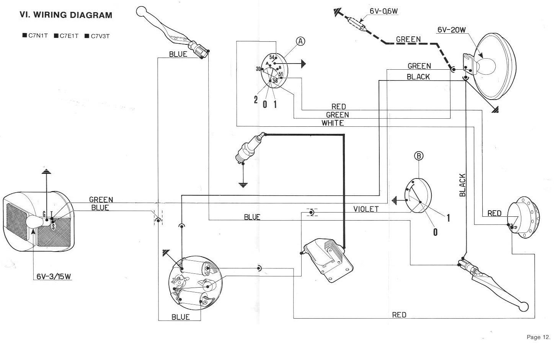 vespa ciao wiring diagram