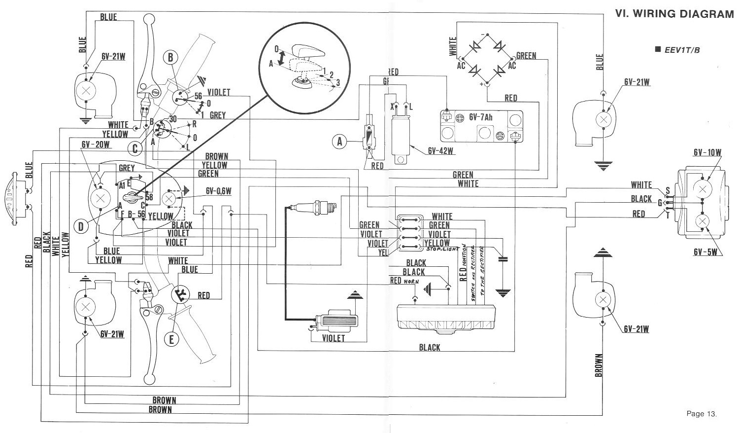 Original wiring diagram 1978 80 Vespa Bravo with blinkers?quality=80&strip=all acco hoist wiring diagram auto electrical wiring diagram