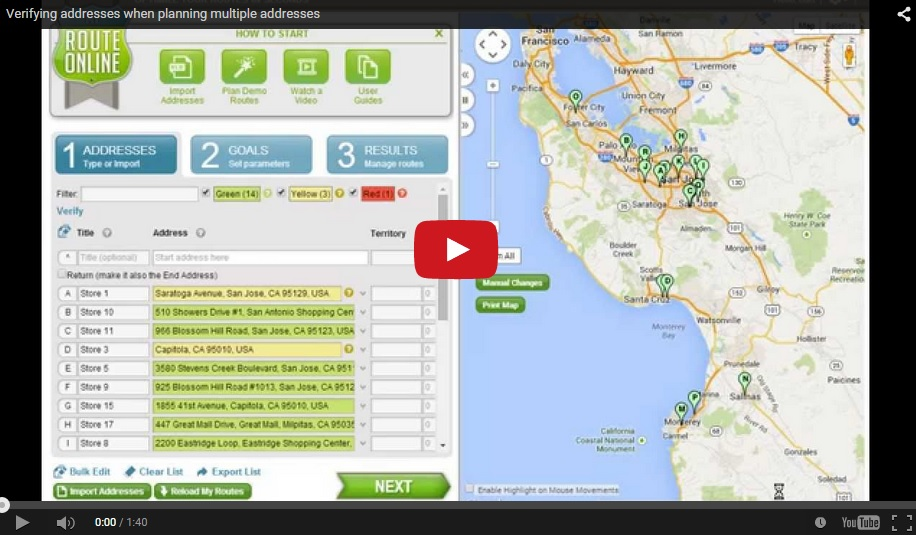 Route planning more than 100 addresses? MyRouteOnline - trip maker software