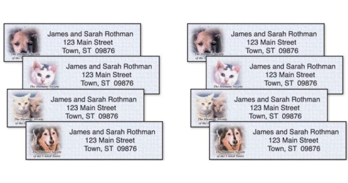 Free The Humane Society Address Labels - Free Product Samples