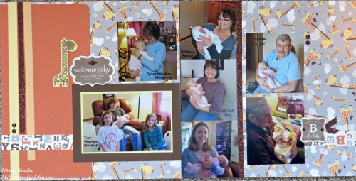 Welcome Baby Layout by Wendy Kessler