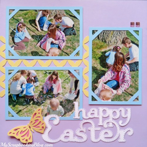 Happy Easter Layout by Wendy Kessler