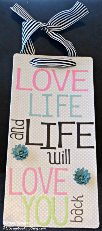Love Life Wall Hanging by Wendy Kessler