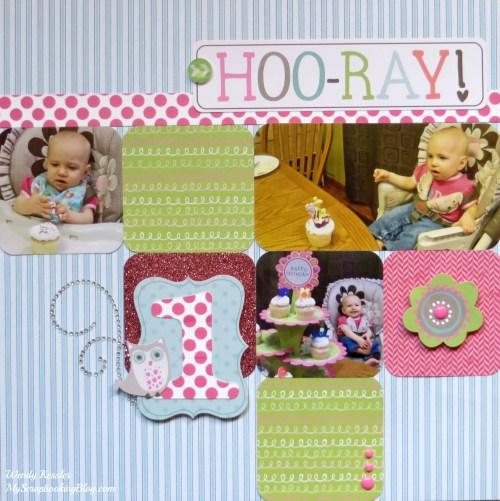 Hoo-ray! Birthday Layout by Wendy Kessler