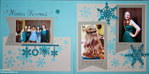 Winter Formal Layout by Wendy Kessler
