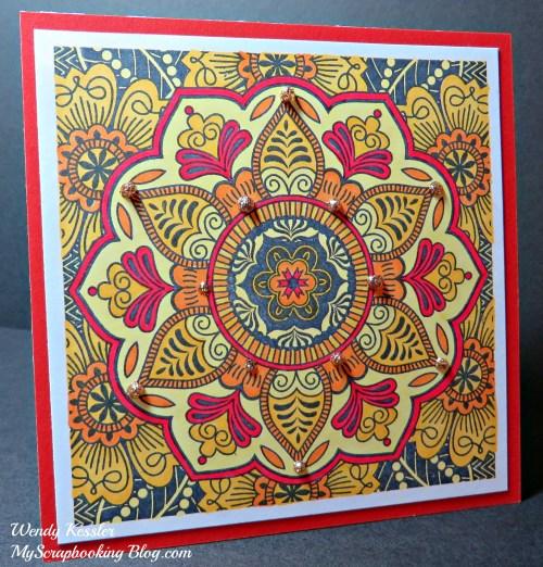 Sunburst Card by Wendy Kessler