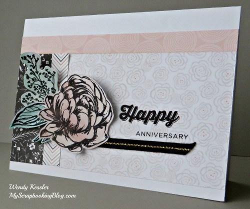 Happy Anniversary Card by Wendy Kessler