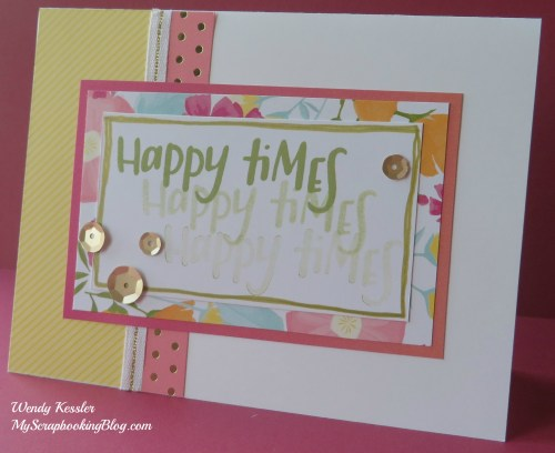 Happy Times Card