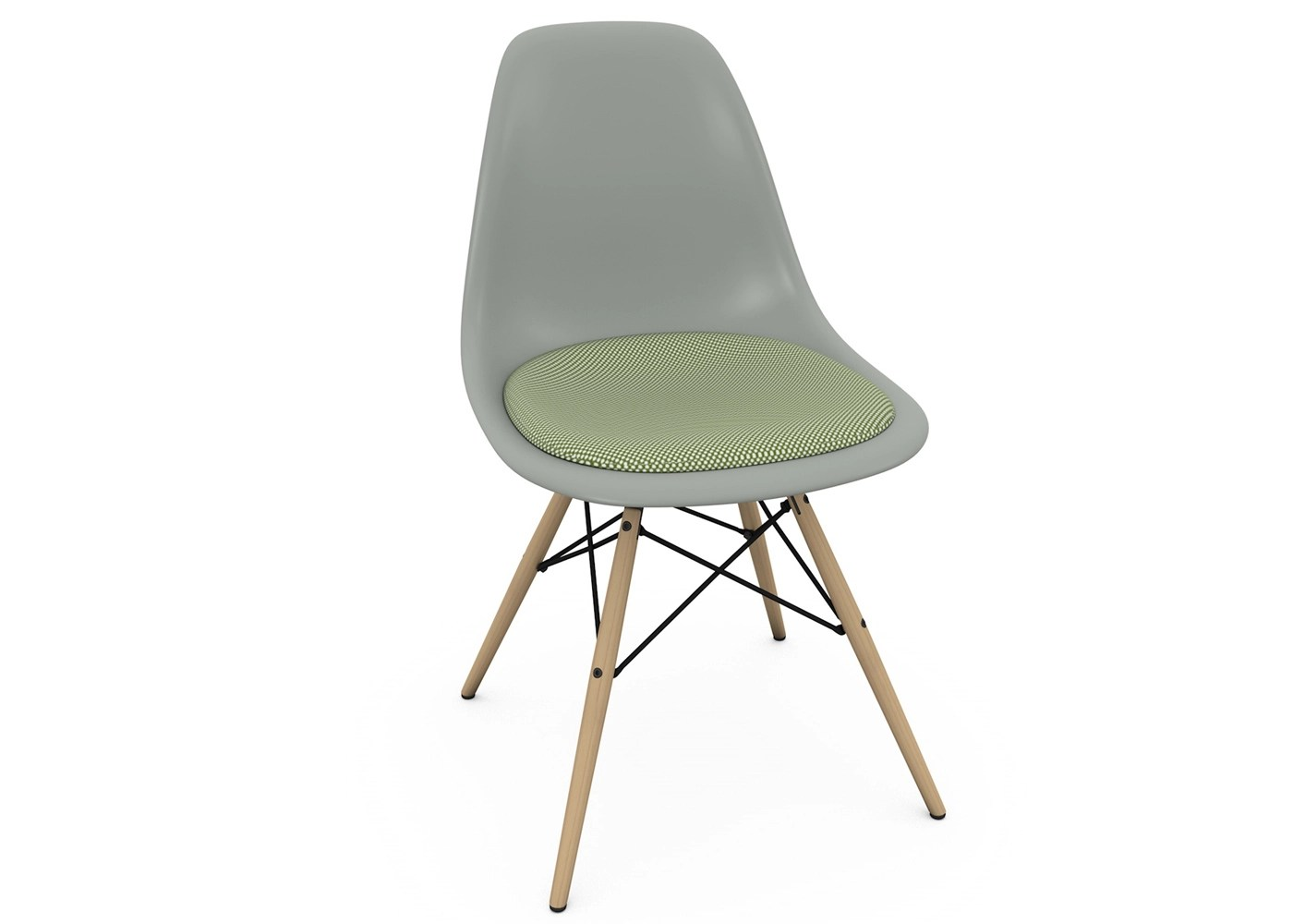 Vitra Eames Dsw Chair New Height Moss Grey And Ivory