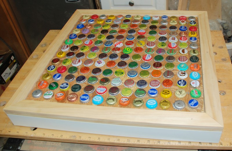 DIY Cheap and Chic Bottlecap Table My So Called Crafty Life