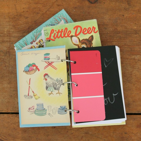 Diy vintage book notebooks my so called crafty life for American crafts 3 ring scrapbook album binder