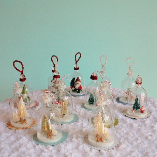 DIY Vintage Inspired Bell Jar Ornaments - My So Called Crafty Life