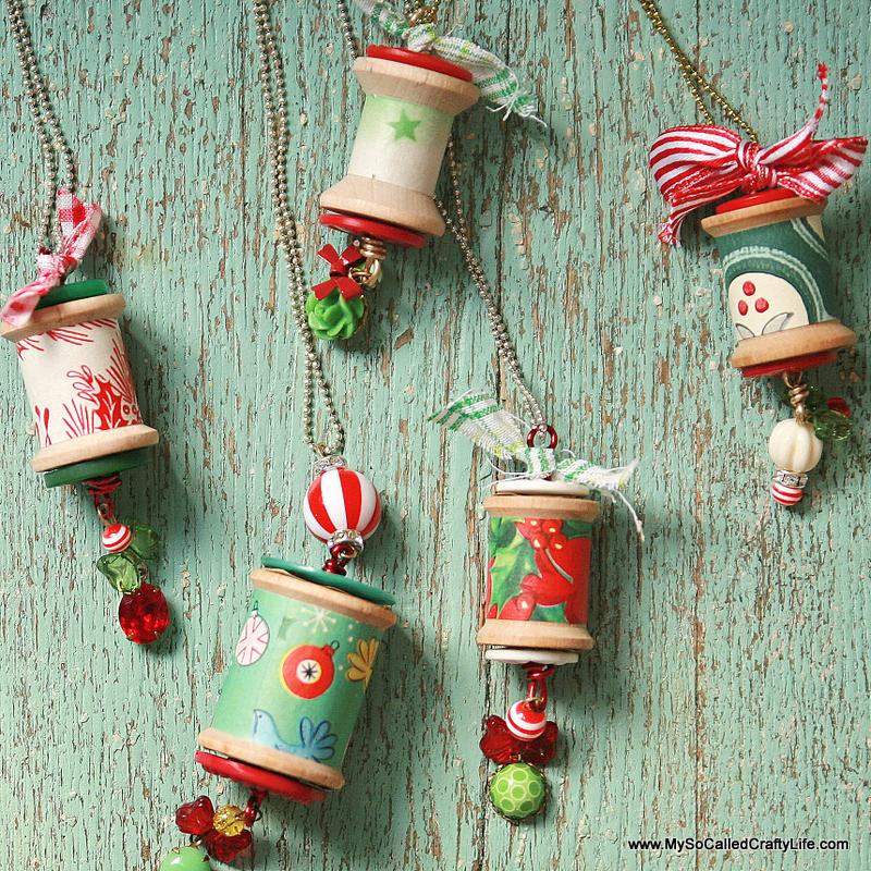 DIY Holiday Spool Necklaces