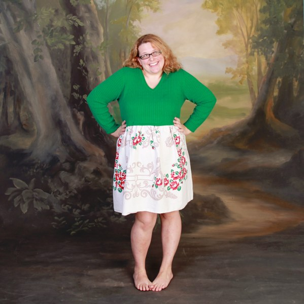 vintage tablecloth dress