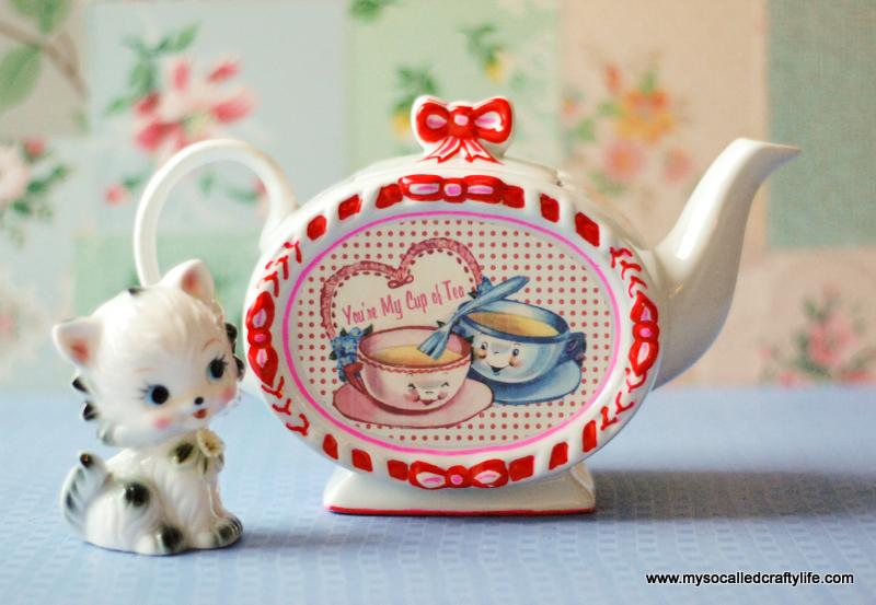 diy image transfer teapot