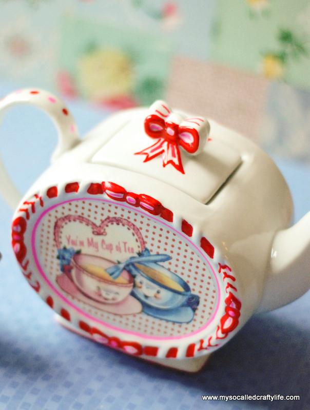 diy retro teapot