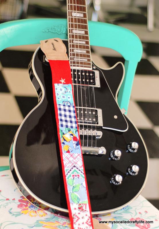 vintage feedsack guitar strap