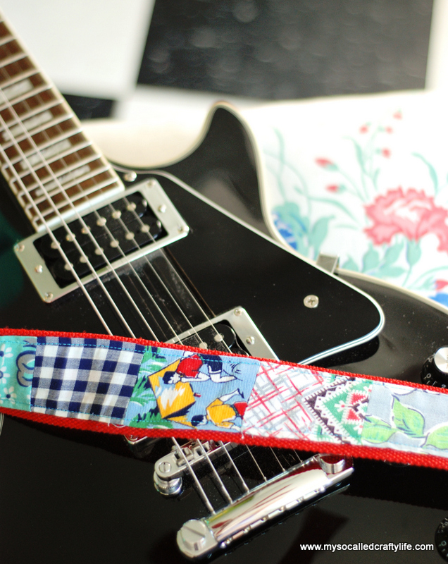 upcycled guitar strap